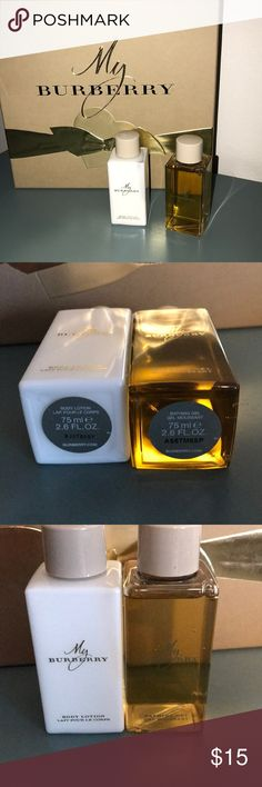My Burberry Body Lotion & Bathing Gel +2.6 fl oz +Bathing Gel +Body Lotion =Treat yourself & Your Body to this Amazing scent.  **Please Note - these came as part of the set with the Perfume. They are smaller sized but NEVER Used or Opened. Owned by Me ONLY! Burberry Other