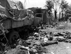 This German convoy ran into a US ambush near the French town of Chambois in July 1944. None of the Germans survived.