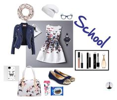 """""""School"""" by nanouh on Polyvore featuring mode, Rainbeam, Monsoon, ban.do, Phase 3, FOSSIL, Christian Dior et GlassesUSA"""