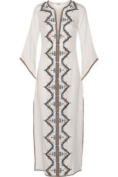 Talitha Embroidered cotton kaftan | NET-A-PORTER