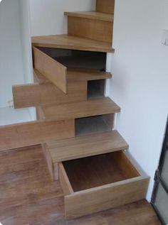 This is a Cool  idea; having storage inside the steps.