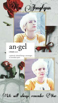 Jonghyun Lockscreen. We will always remember You. Rest in Peace. We love you. #jonghyun #lockscreen #shinee #rosesforjonghyun