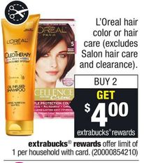 High Value L'Oreal Coupon! $4.00 off TWO (2) L'Oreal Paris Advanced Products Printable Coupon Plus CVS Deal!