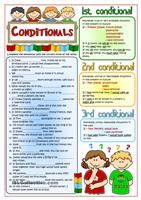 An exercise to practise conditional sentences - type 1 with pre-intermediate students. They have to complete the sentences with the correct form of the verbs in brackets. Greyscale version and KEY included. Hope you can use it with your ss. Have a nice week! Hugs mada :)  - ESL worksheets