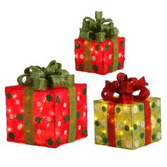 RAZ 14 inch Lighted Christmas Presents