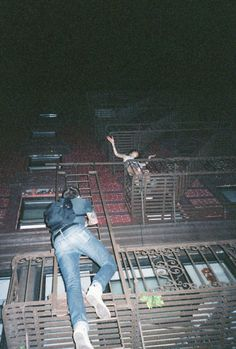 Climb someones fire escape to surprise them. Here's Johnny! Erika