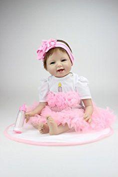 d8a62ec743e7 SanyDoll Reborn Baby Doll Soft Silicone Neugeborene Babypuppen, Baby  Mädchen Puppen, Kleine