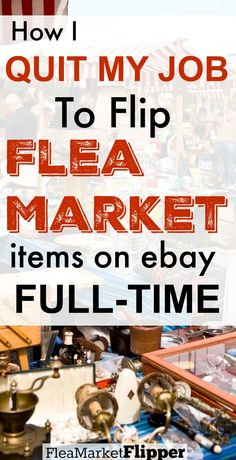 I love buying and reselling treasures I find at the flea market! It has now turned into my full time job and it is awesome that I have the freedom to make my own schedule. EBay is a great place to sell items for profit.