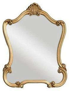 Warsaw Wall Mirror, Gold -- This ornate mirror features a gold frame with antique specking. A classic addition to any space, whether for holiday decor or a touch of traditional glamour every day.