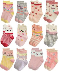 6 Pairs Diggers Police Infant Boys Baby Toddler Socks Vehicles Casual 3