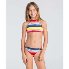 d8b1f4543dfd Billabong 'Fiesta Fun' Two-Piece Halter Swimsuit (Little Girls & Big  Girls). Boardmart