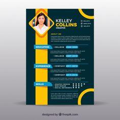 Job Resume Template, Modern Resume Template, Resume Design Template, Creative Resume Templates, Interior Design Resume, Brochure Design, Modelo Curriculum, Curriculum Vitae Template Free, Conception Cv