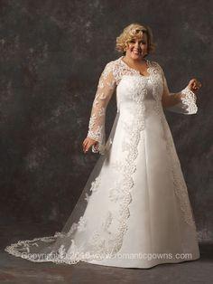 Flattering Plus-Size Wedding Dresses & Gowns / RomanticGowns.com