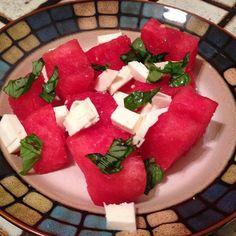 Watermelon Mozzarella Cocktail #killingmesoftlyfrominside