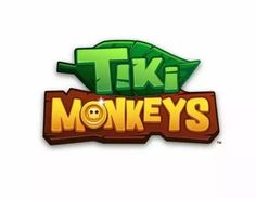 Tiki Monkeys - Mobile Game by flavia ceccarelli, via Behance Bg Design, Game Logo Design, 2 Logo, Typography Logo, Video Game Logos, Toys Logo, Game Title, Cartoon Logo, Graffiti