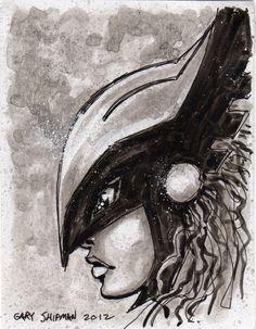 Hawkgirl - by Gary Shipman