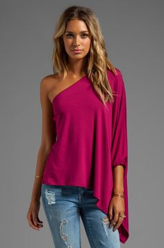 James & Joy Poncho Top in Cranberry | REVOLVE