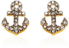 Pave Anchor Stud Earrings - Juicy Couture - Polyvore