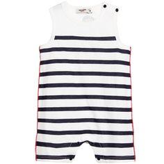 Junior Gaultier Baby Striped Onesie | New Collection