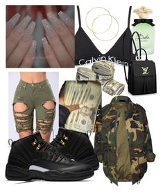 """""""Bout this money"""" by rayven019 on Polyvore featuring Calvin Klein Underwear, Dolce&Gabbana and Louis Vuitton"""