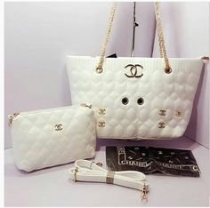 0b841752901a White CHANEL High Quality 2 in 1 Bags For Women. Bvlgari Handbags