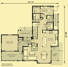 images about Inspiring House Plans on Pinterest    Architectural House Plans   Floor Plan Details   Robson