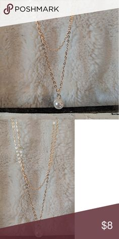 Fashion Gold Double Chain Pearl Necklace NWT. ** I consider all offers, so send me a message! And make sure to check out my closet on PoshMark and Instagram for items posted! The more you bundle the more you save! Feel free to ask any questions! I ship same/next day! ** Jewelry Necklaces