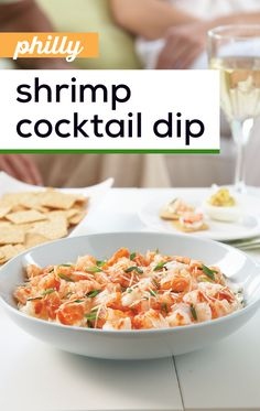 PHILLY Shrimp Cocktail Dip – Aka the entertaining hostess's dream recipe! 10 minutes to party time is all you& need to turn five ingredients into this awesome seafood appetizer. Seafood Appetizers, Yummy Appetizers, Appetizers For Party, Appetizer Recipes, Fish Recipes, Seafood Recipes, Cooking Recipes, Healthy Recipes, Dream Recipe