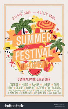 Image result for summer festival poster