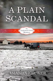 """Review of """"A Plain Scandal"""" by Amanda Flower."""