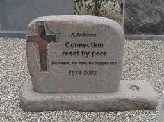 These funny prank gravestones  tombstones cemetery headstone epitaph photos are hilarious, witty and humorous! Description from pinterest.com. I searched for this on bing.com/images