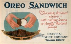 The Nabisco cookies have gone through many changes since their 1912 debut. Check out some of the vintage ads and packaging. Nabisco Cookies, Nabisco Oreo, Milk Cookies, Oreo Cookies, Old Advertisements, Retro Advertising, Oreo Flavors, Chocolate Flavors, Retro Recipes