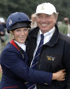 Close: Zara Tindall and her father Captain Mark Phillips have given a rare joint interview
