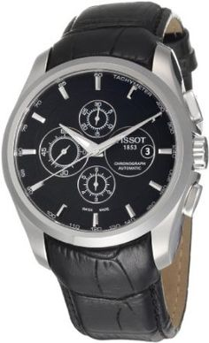 Tissot Mens T-Trend Couturier Black Chronograph Dial Watch Modern Watches, Luxury Watches, Cool Watches, Watches For Men, Unique Watches, Mesh Bracelet, Bracelet Watch, Seiko Watches, Color Negra