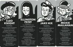 Cleo, Ellington, Jake, Moxie