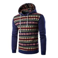 Ethnic Style Stripe Printed Hoodie 1702c548453