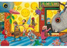 誠品信義店:幾米作品導賞會 High Definition Pictures, Calendar Wallpaper, Illustrations And Posters, Children's Book Illustration, Christmas Themes, All The Colors, Childrens Books, Watercolor Paintings, Cartoon