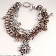 KLH's: Lights in Paris Bracelet #charmbracelet #klhcollection #fleurdilis #oneofakind www.BuyKLH.com