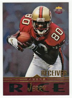 Jerry Rice # WR 8 - 1997 Score Board Playbook By The Numbers Football