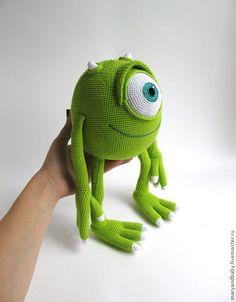 """Игрушка """"Майкл Вазовски"""" – купить или заказать в интернет-магазине на Ярмарке Мастеров   Игрушка связана крючком из микрофибры (голова,…"""