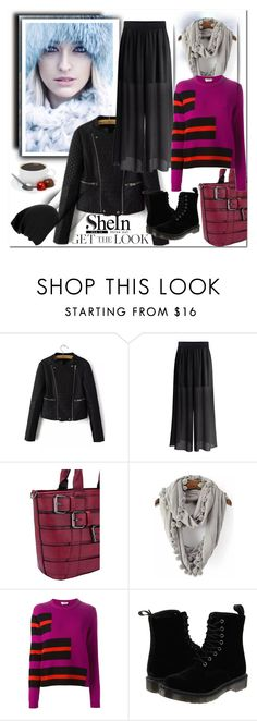 """shein.com"" by ilona-828 ❤ liked on Polyvore featuring Fendi, Dr. Martens, StreetStyle, polyvoreeditorial and shein"