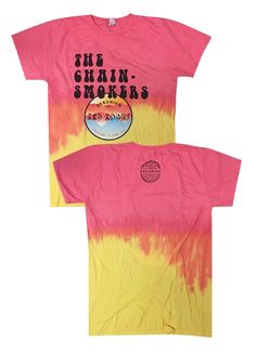 The Chainsmokers dip dyed red rocks tee merch $15