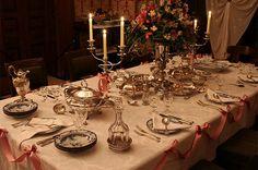 Recreated festive table setting for Alexander Macleays 80th birthday celebration.  Photo © Leo Rocker.