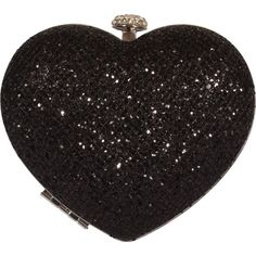Sparkle Heart Hardcase Clutch Purse Evening Bag Certified Vegan ($40) ❤ liked on Polyvore featuring bags, handbags, clutches, purses, bolsas, accessories, heart purse, vegan leather purse, sparkle handbags and vegan leather handbags