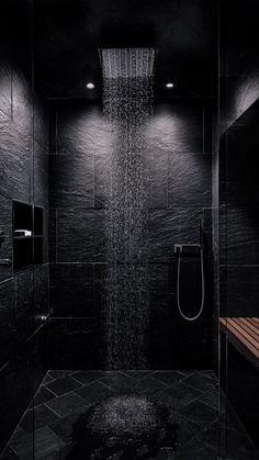 Dream House Interior, Luxury Homes Dream Houses, Dream Home Design, House Design, Dream Bathrooms, Dream Rooms, Modern Bathrooms, Black Bathrooms, Black Interior Design