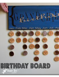 here's how to make those cute birthday boards - love!