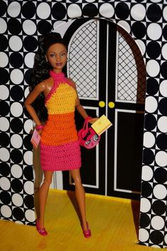 "Raven wears a crocheted version of Poppy Parker's ""Ready, Steady,  Go!"""