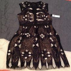 "Bcbgmaxazria ""Kailey"" cocktail dress Lace black and white cocktail dress! BCBGMaxAzria Dresses"