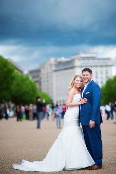 Cityscape Bride and Groom Photos | Potomac at Avenel Farms, DC Wedding | Connor Studios
