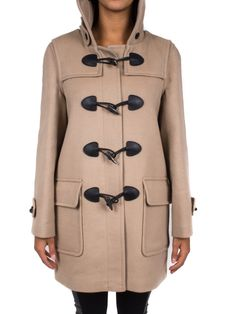 BURBERRY - Montgomery in lana con applicazioni in pelle - Cammello  - Elsa-boutique.it #Burberry <3